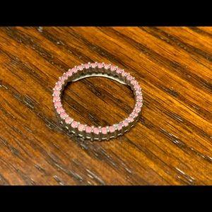 Jewelry - Women's white gold pink sapphire round pendant